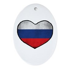 Russian Heart Ornament (Oval)