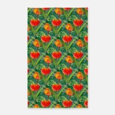 Red Tulip Garden 3'x5' Area Rug