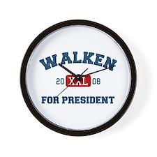 Walken for President Wall Clock