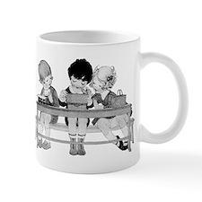 Adorable Vintage Children having lunch Mugs
