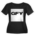 GFY Women's Plus Size Scoop Neck Dark T-Shirt