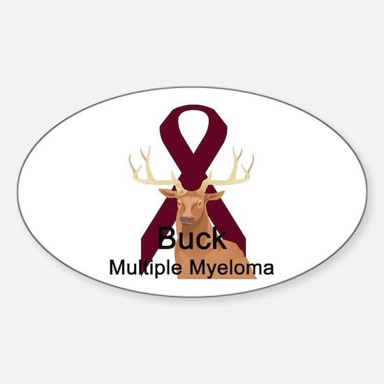 Mulitple Myeloma Oval Decal