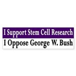 Support SC Research, Oppose Bush sticker