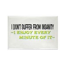 Insanity Rectangle Magnet