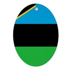 Flag of Zanzibar Ornament (Oval)