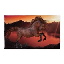 A Horse In The Sunset 3'x5' Area Rug