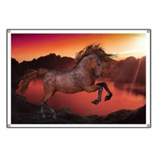 A Horse In The Sunset Banner