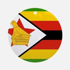 Flag of Zimbabwe Ornament (Round)