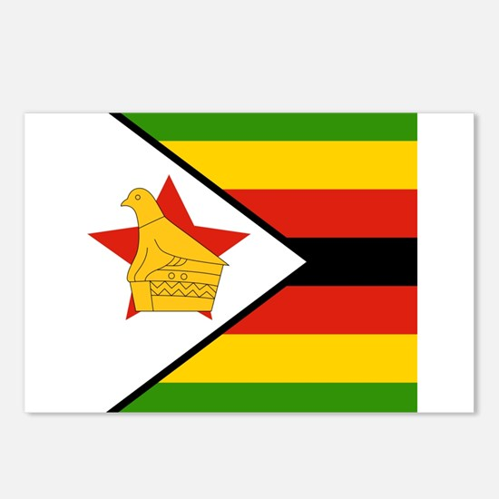 Flag of Zimbabwe Postcards (Package of 8)