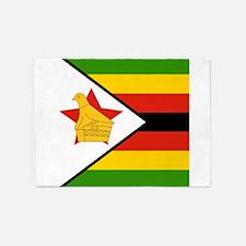 Flag of Zimbabwe 5'x7'Area Rug