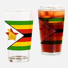 Flag of Zimbabwe Drinking Glass