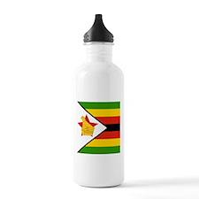 Flag of Zimbabwe Sports Water Bottle