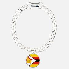 Flag of Zimbabwe Charm Bracelet, One Charm
