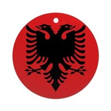 Flag of Albania Ornament (Round)
