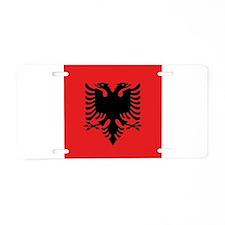 Flag of Albania Aluminum License Plate