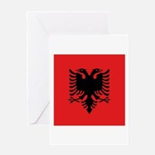 Flag of Albania Greeting Cards