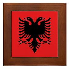 Flag of Albania Framed Tile