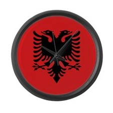 Flag of Albania Large Wall Clock