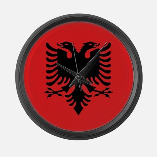 Flag of Albania Large Wall Clock
