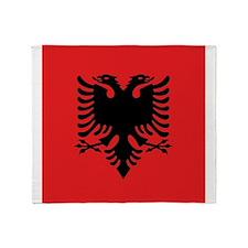 Flag of Albania Throw Blanket