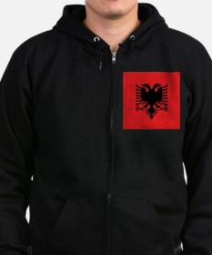 Flag of Albania Zip Hoody