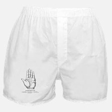 Vintage 7 Principal Lines Palm Reading Boxer Short