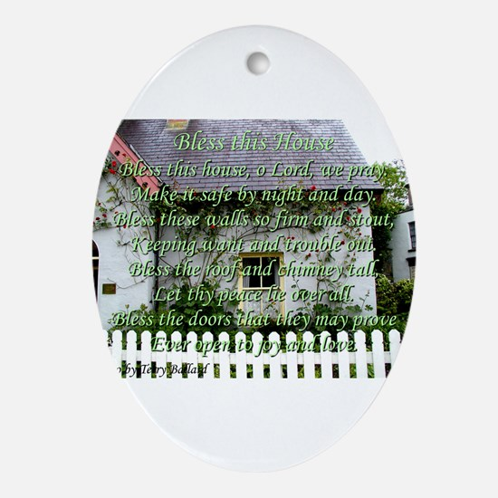 Bless This House Ornament (Oval)