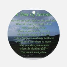 In Time of Sorrow Ornament (Round)