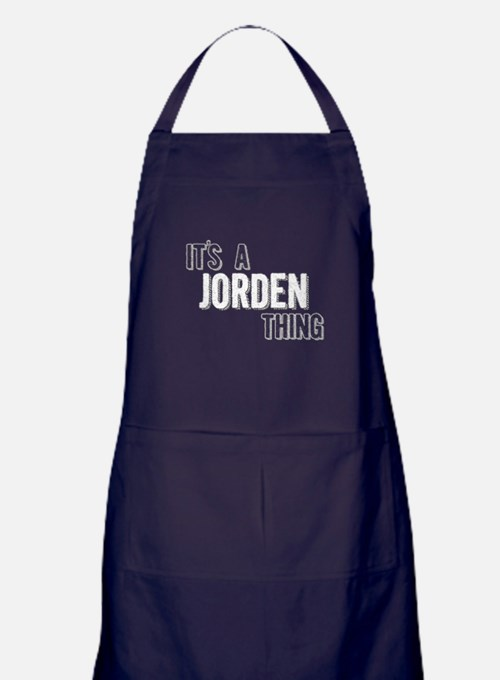 Its A Jorden Thing Apron (dark)