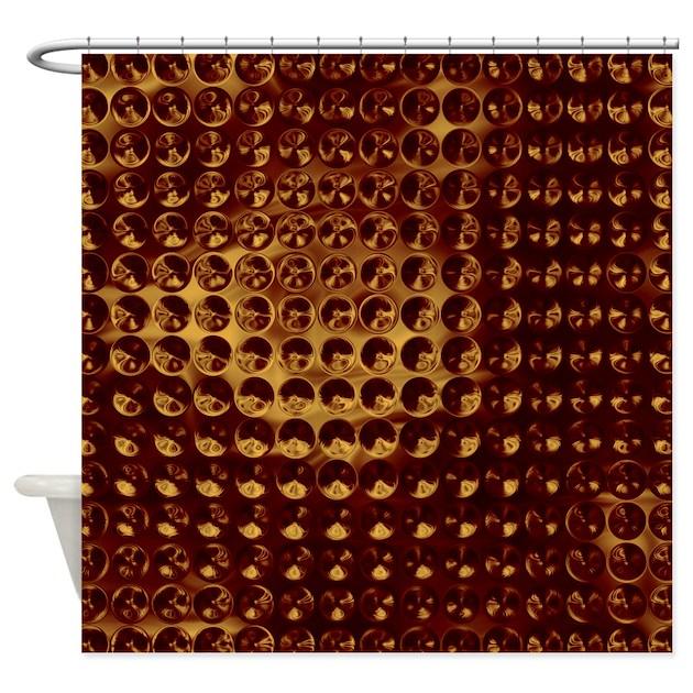 Glassy Maroon Spheres Shower Curtain By CutePrints