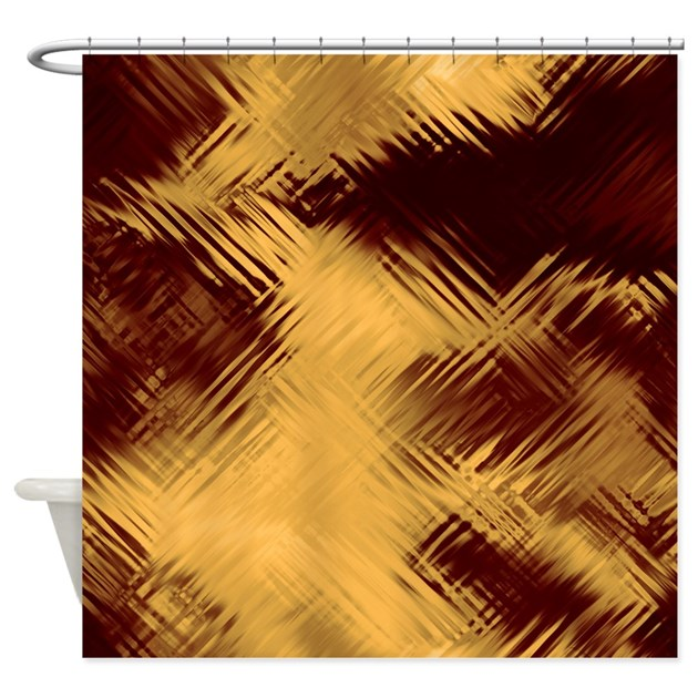 Dark Red Glass Shower Curtain By CutePrints