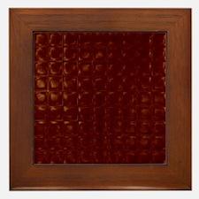 Chocolate Squares Framed Tile