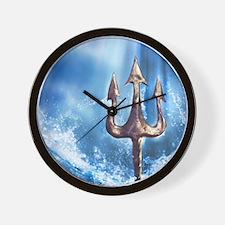 Poseidons Trident Wall Clock
