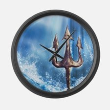 Poseidons Trident Large Wall Clock