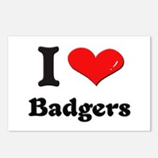 I love badgers  Postcards (Package of 8)