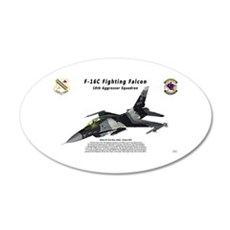 F-16C 18th AGRS in flight Wall Decal