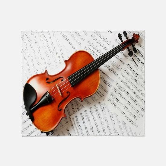 Violin Musician Throw Blanket
