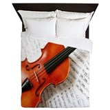 Musician violin Luxe Full/Queen Duvet Cover