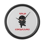 Ninja Consultant Large Wall Clock