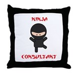 Ninja Consultant Throw Pillow