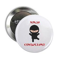 """Ninja Consultant 2.25"""" Button"""