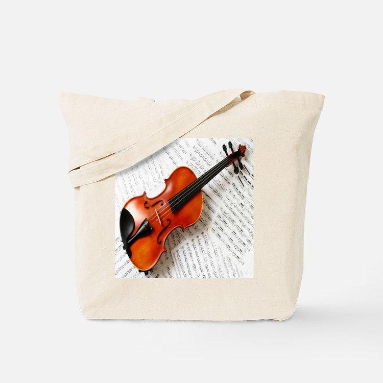 Violin Musician Tote Bag
