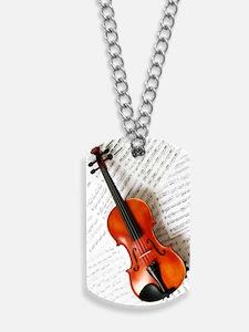 Violin Musician Dog Tags