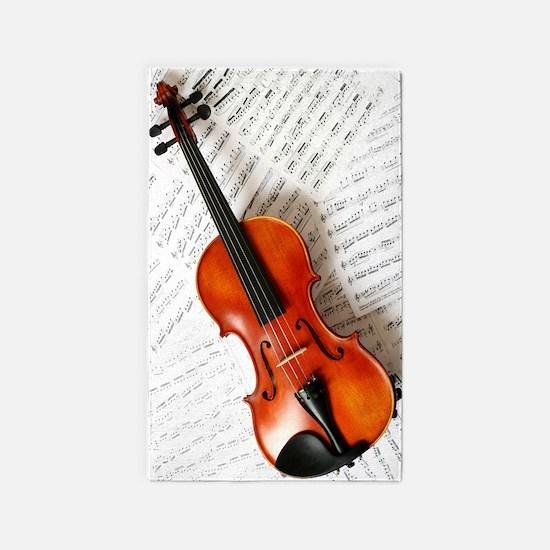 Violin Musician 3'x5' Area Rug