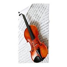 Violin Musician Beach Towel