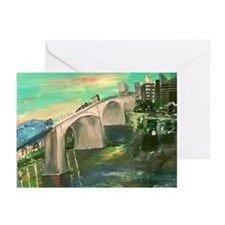 Chattanooga Skyline Greeting Cards