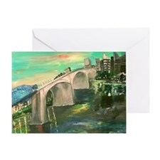 Chattanooga Skyline Greeting Cards