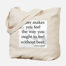Beer Quote Tote Bag