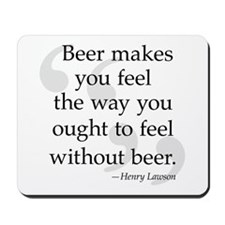 Beer Quote Mousepad