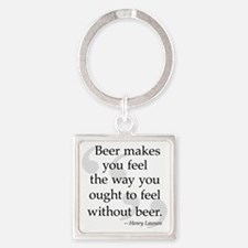 Beer Quote Square Keychain